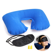 Inflatable Pillow + Ear Plugs + Patch Eye Mask