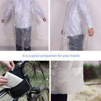 Disposable PE Raincoats - 5Pc