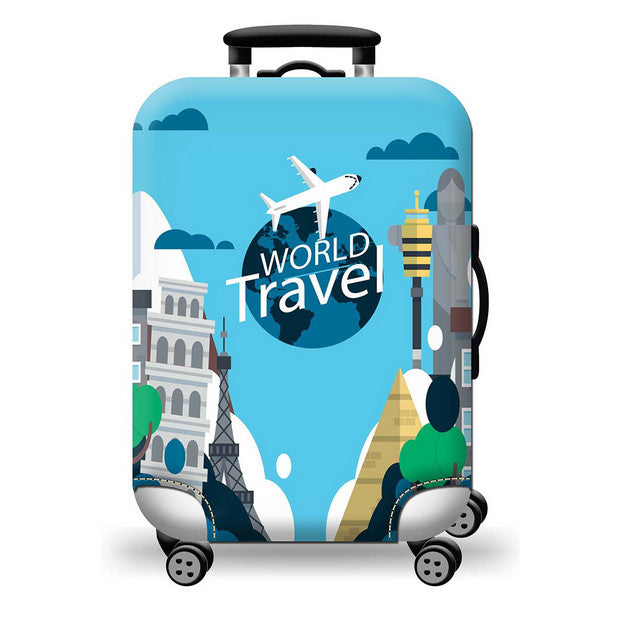 World Travel Luggage Cover