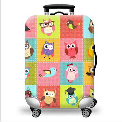 Tricky Birds Luggage Cover Protector