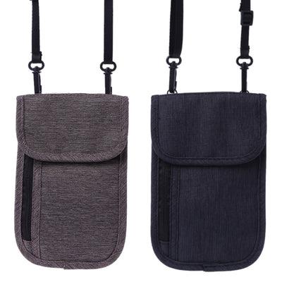 RFID Travel Passport Neck Pouch Blocking