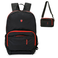 Black Red Travel Backpack