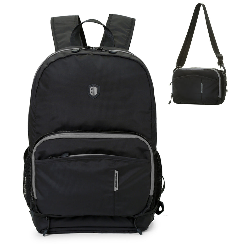 Black Portable Travel Backpack