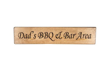 Dad's BBQ & Bar Area 45cm wood sign