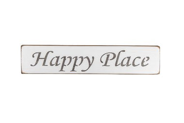 Happy Place 45cm wood sign