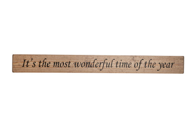 It's the most wonderful time of the year sign, christmas decoration