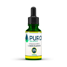 Load image into Gallery viewer, Natural CBD Oil - 1000mg (10%) - Lemon Flavour - 10ML, 30Ml, 50Ml Available