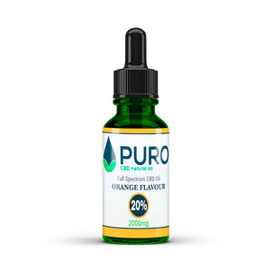 Natural CBD Oil - 2000mg (20%) - Orange Flavour - 10ML, 30Ml, 50Ml Available