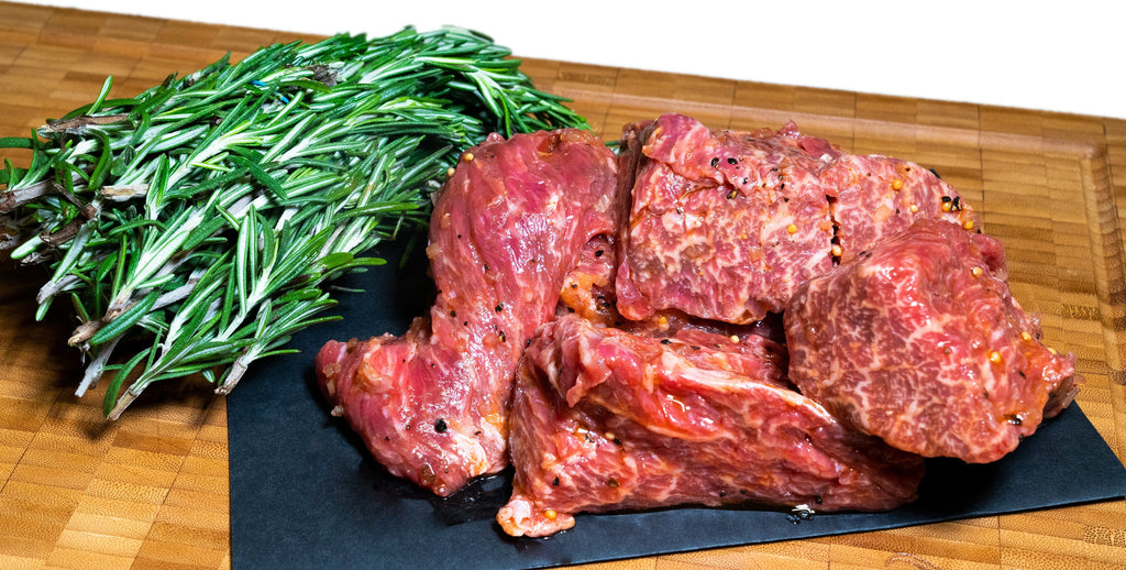 Steakhouse Marinated USDA Prime Steak Tips - Alpine Butcher