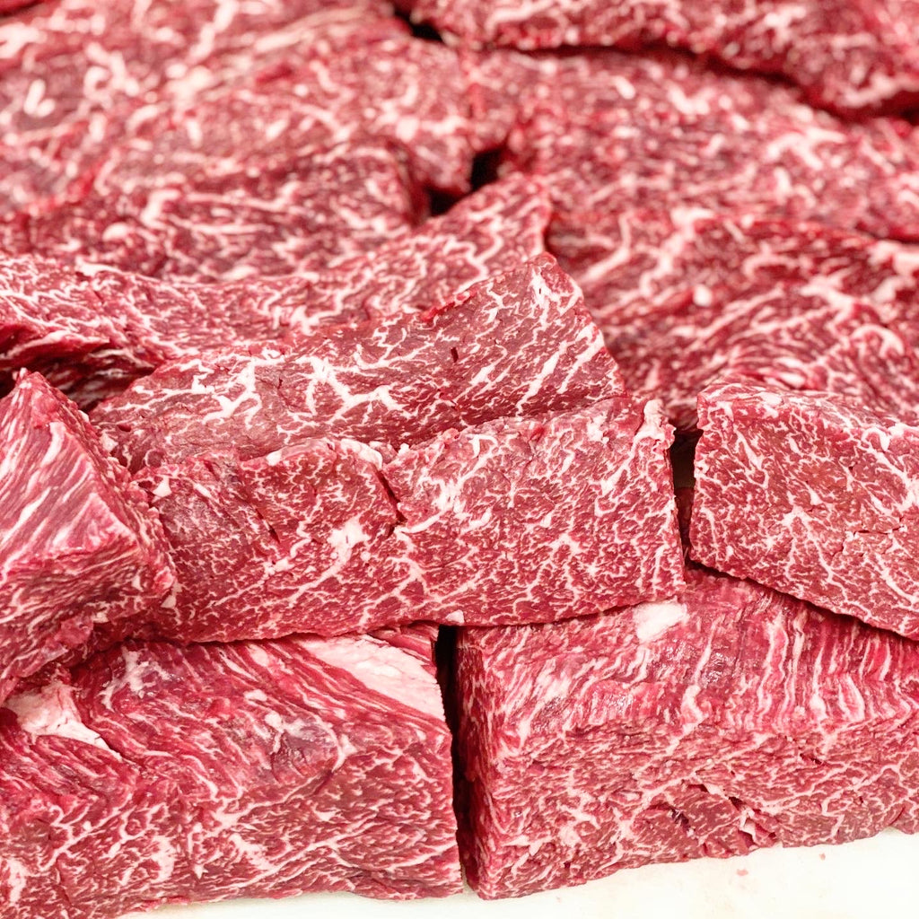 Umami Olive-Fed Wagyu Steak Tips - Alpine Butcher