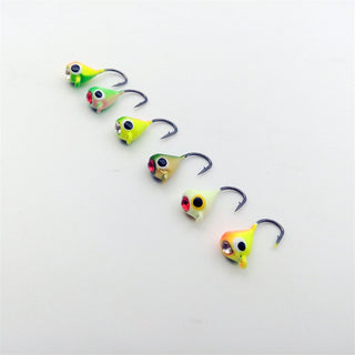 Winter Ice Fishing Hook Lure Mini Metal Bait Fish  6Pcs 15mm/1.1g Jigging