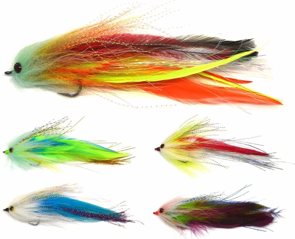 "6"" Trout Salmon Steelhead Pike Fly Fishing Flies NEW"