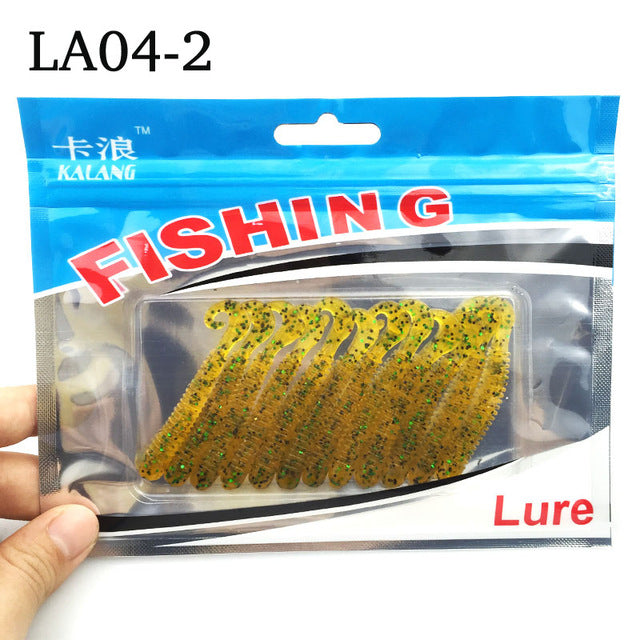 Fishing lure soft with salt smell 12pcs