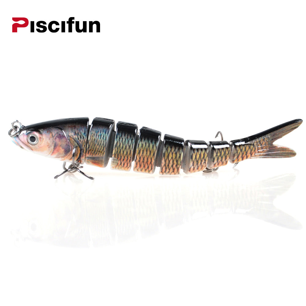 Piscifun Hard Fishing Lure 14CM 27g Multi Jointed 3D Eyes 8-Segment