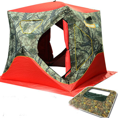 2017 Winter Tent for 3-4 Persons Ice Fishing Tent Cotton Canvas Quick Open Tents