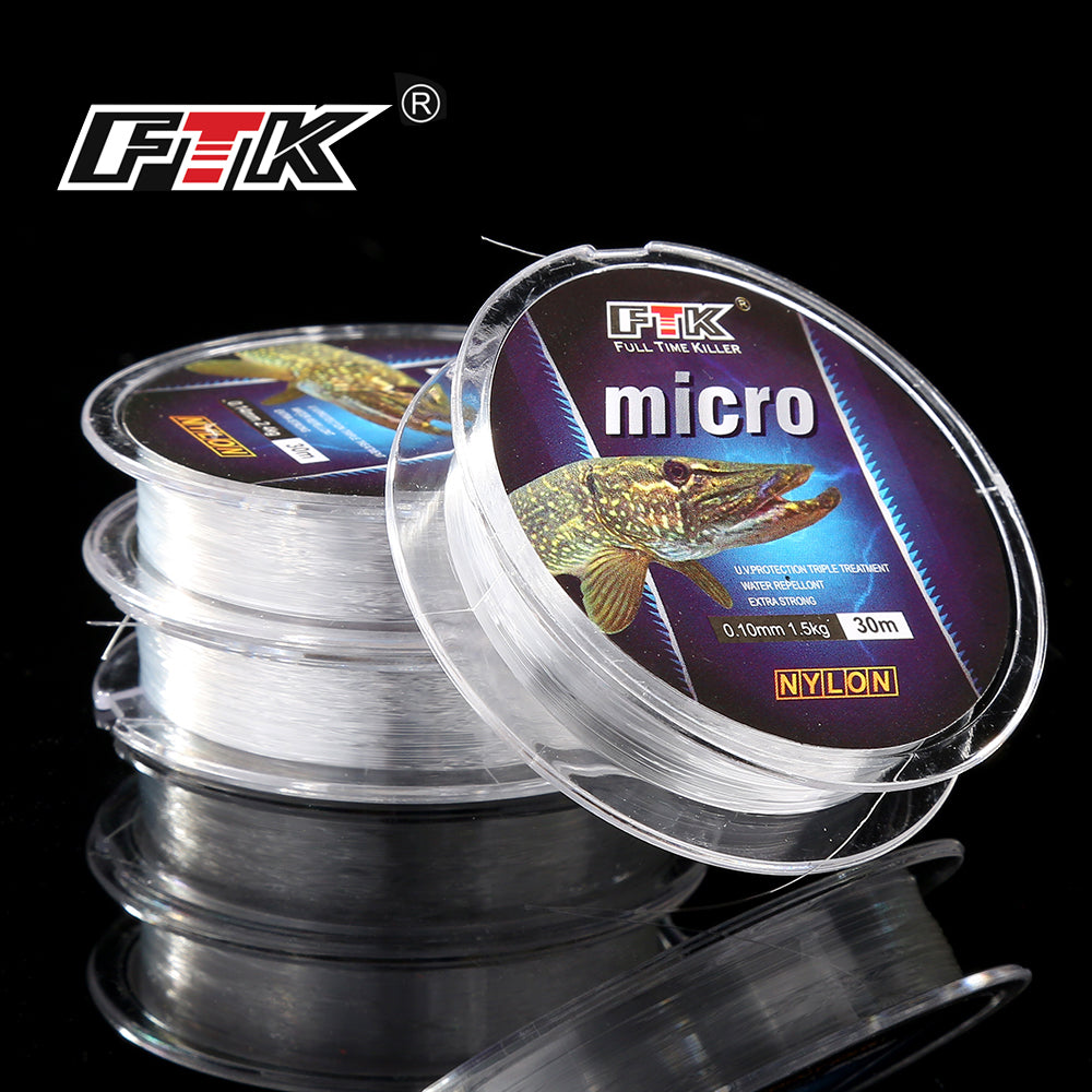 FTK  Ice Fishing Nylon Line 30M 2.9-12.5LB