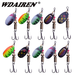 10/lot 5.5g 3.5g Fishing Lure Hook Spinner Spoon Lures