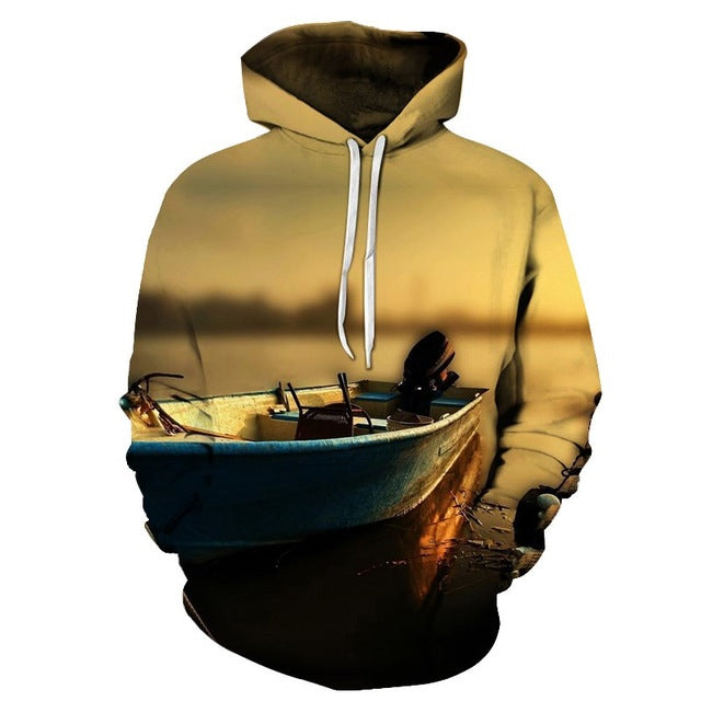 3D Tropical Fish Funny Hoodie