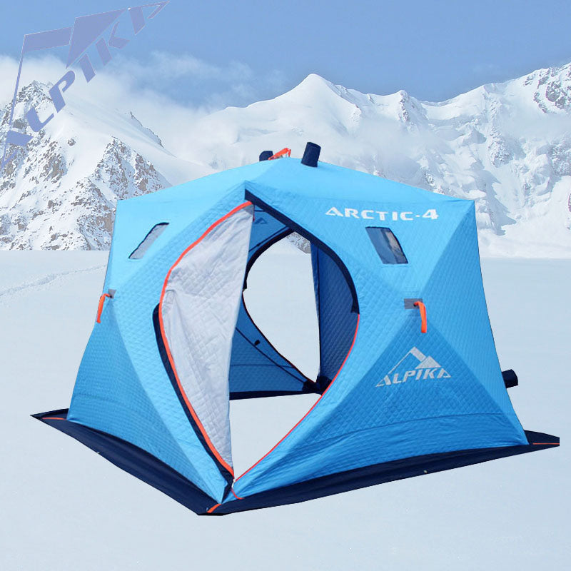 2018 large space 5-6 people ice fishing tent and three layers of warm oxford winter cotton