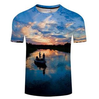 Fishing Print 3D T-Shirt