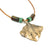 Ocean Theme Shoreline Solid Bronze Realistic Sea Life Stingray Pendant Necklace - Big Blue
