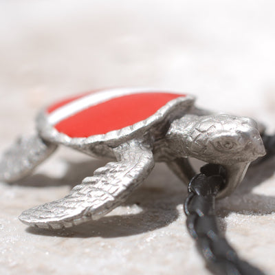 Dive Turtle Pewter Pendant, Jewelry, Big Blue, [Big_Blue_By_Roland_St_John]