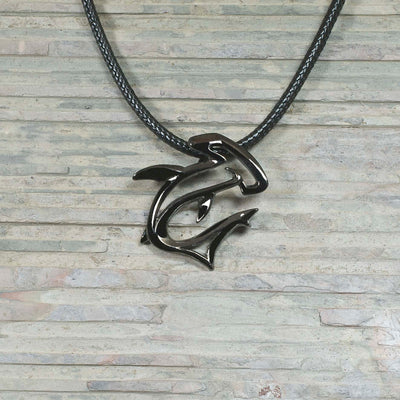 "Hematite ""The Hammer"" Hammerhead Shark Pendant, Jewelry, Big Blue, [Big_Blue_By_Roland_St_John]"