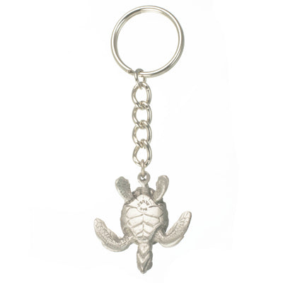 Realistic Ocean Themed Sea Life Pewter Sea Turtle Quality Key Chain, Key Chains, Big Blue, [Big_Blue_By_Roland_St_John]