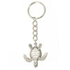 Sea Turtle with Dive Flag Pewter Key Chain, Key Chains, Big Blue, [Big_Blue_By_Roland_St_John]