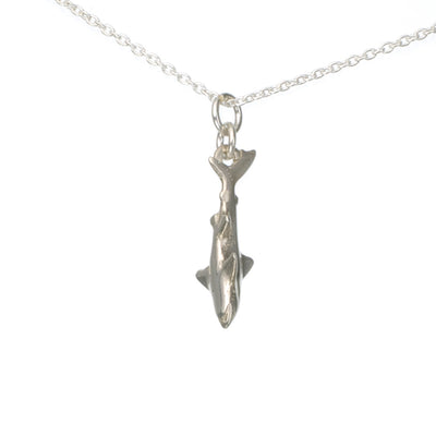 Mini Realistic Shark Pendant with Sterling Chain, Jewelry, Big Blue, [Big_Blue_By_Roland_St_John]