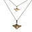 New Ocean Breeze Collection Manta Rays Bronze Boho Layered Sea Life Necklaces - Big Blue