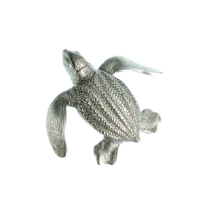 Leatherback Turtle Hatchling  Pewter Pin, jewelry, Big Blue, [Big_Blue_By_Roland_St_John]