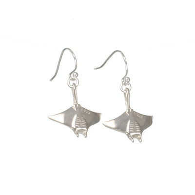 Realistic Manta Ray Sterling Earrings, Jewelry, Big Blue, [Big_Blue_By_Roland_St_John]