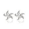 """Starry"" Starfish Post Earrings, jewelry, Big Blue, [Big_Blue_By_Roland_St_John]"