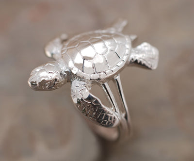 """Hatchling"" Sea Turtle Ring, Jewelry, Big Blue, [Big_Blue_By_Roland_St_John]"