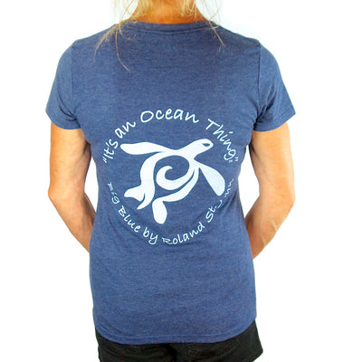 """It's an Ocean Thing"" Woman's T-Shirt, Apparel, Big Blue, [Big_Blue_By_Roland_St_John]"