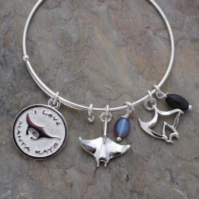 I Love Manta Rays Bracelet, jewelry, Big Blue, [Big_Blue_By_Roland_St_John]