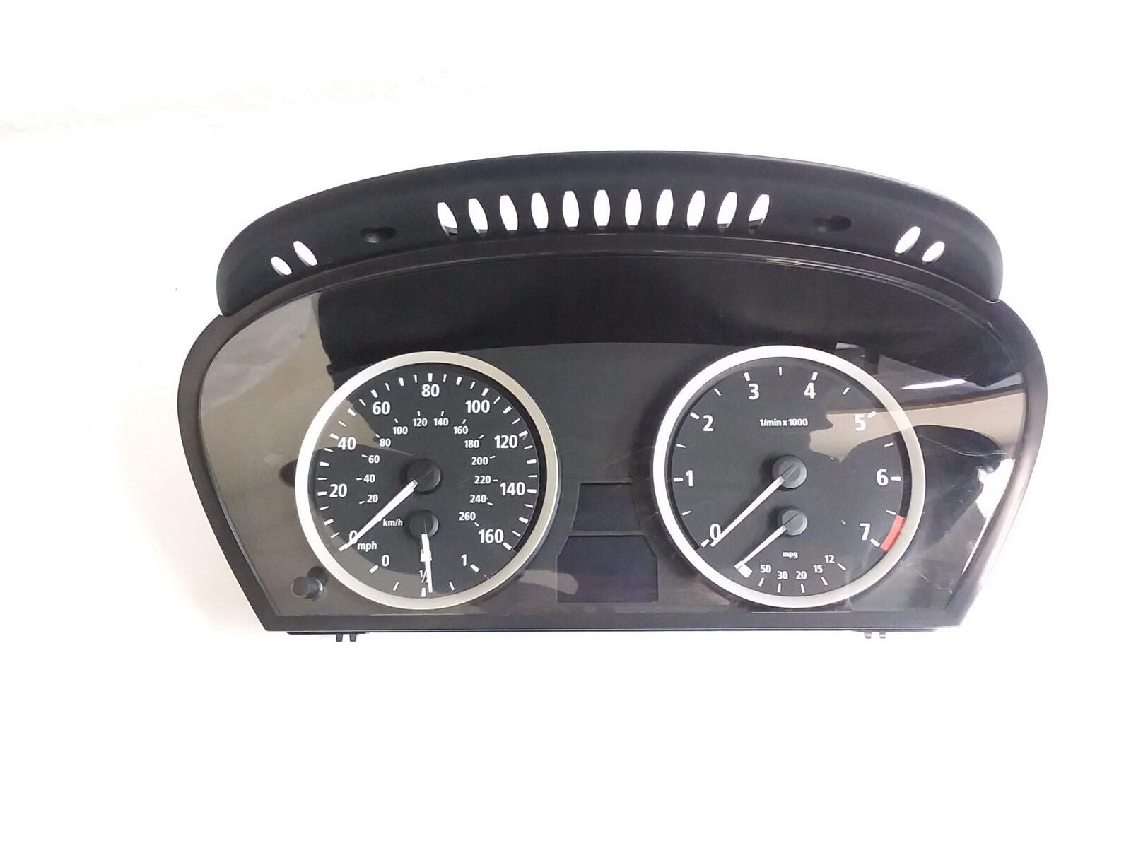 2004-2010 BMW E60 E61 SMG INSTRUMENT CLUSTER GAUGE SPEEDOMETER ODOMETER OEM - Click Receive Auto Parts