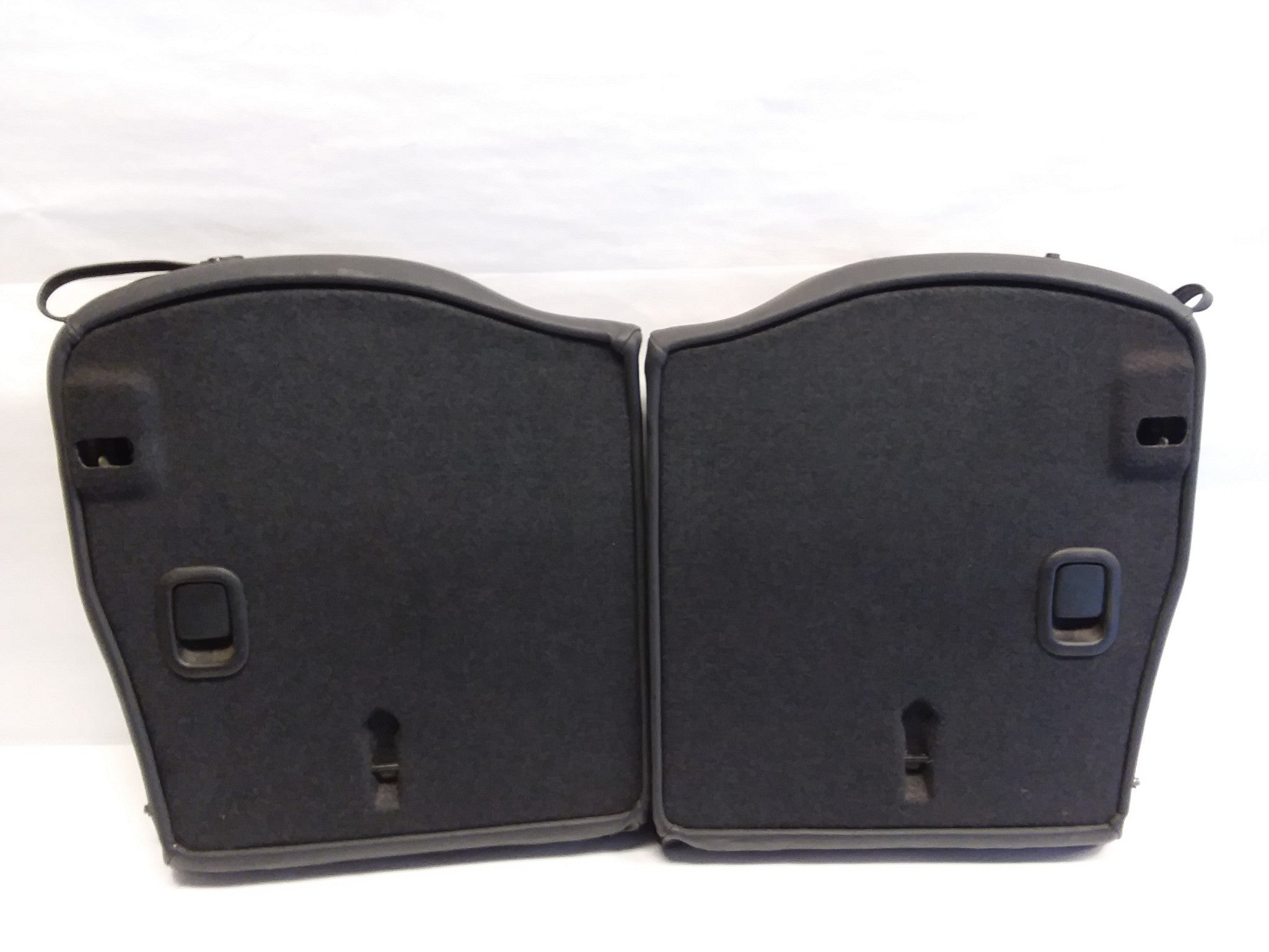 2005 - 2008 Mini Cooper Convertible R52 Rear Seat Backrests Black Leather OEM
