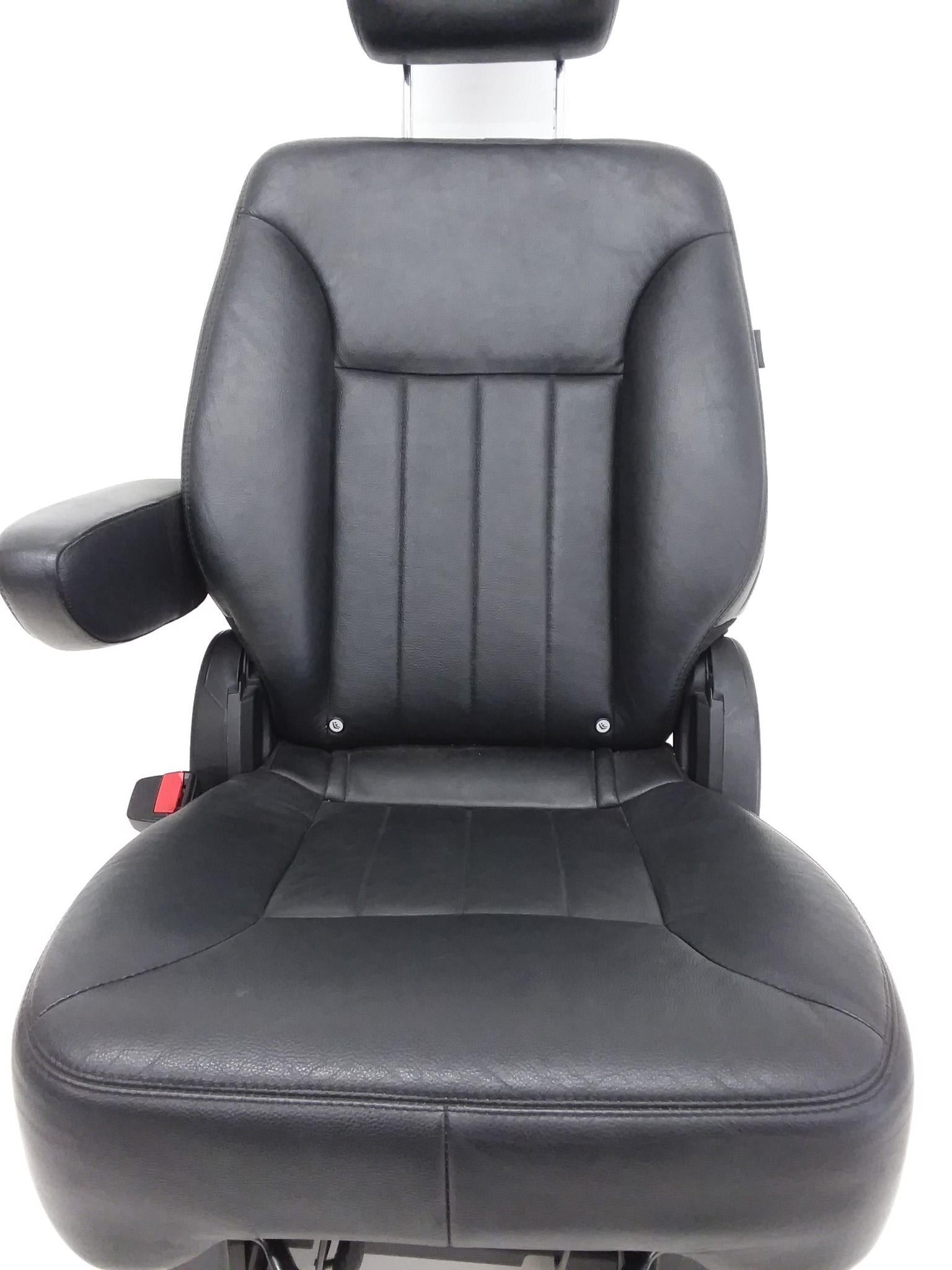 MERCEDES-BENZ R350 R320 R500 R63 MIDDLE LEFT SEAT BLACK LEATHER 2006 - 2013 OEM