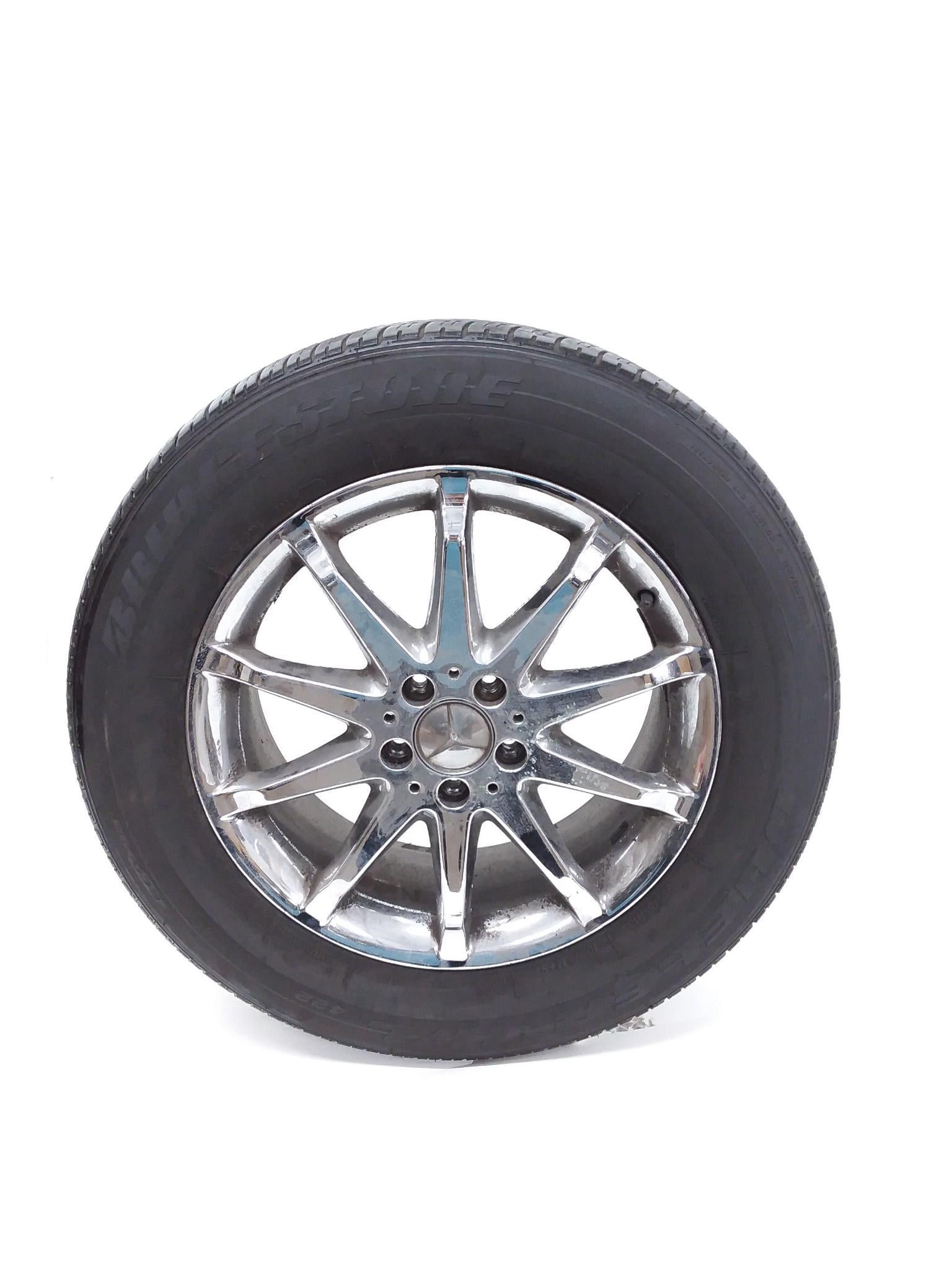 06 - 09 MERCEDES W251 R350 R500 WHEEL & TIRE 255/55R18 / 10 SPOKE OEM 6.3/32nds - Click Receive Auto Parts