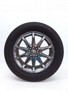 06 - 09 MERCEDES W251 R350 WHEEL & TIRE CHROME 10 SPOKE 255/55R18 OEM 7.0/32nds - Click Receive Auto Parts
