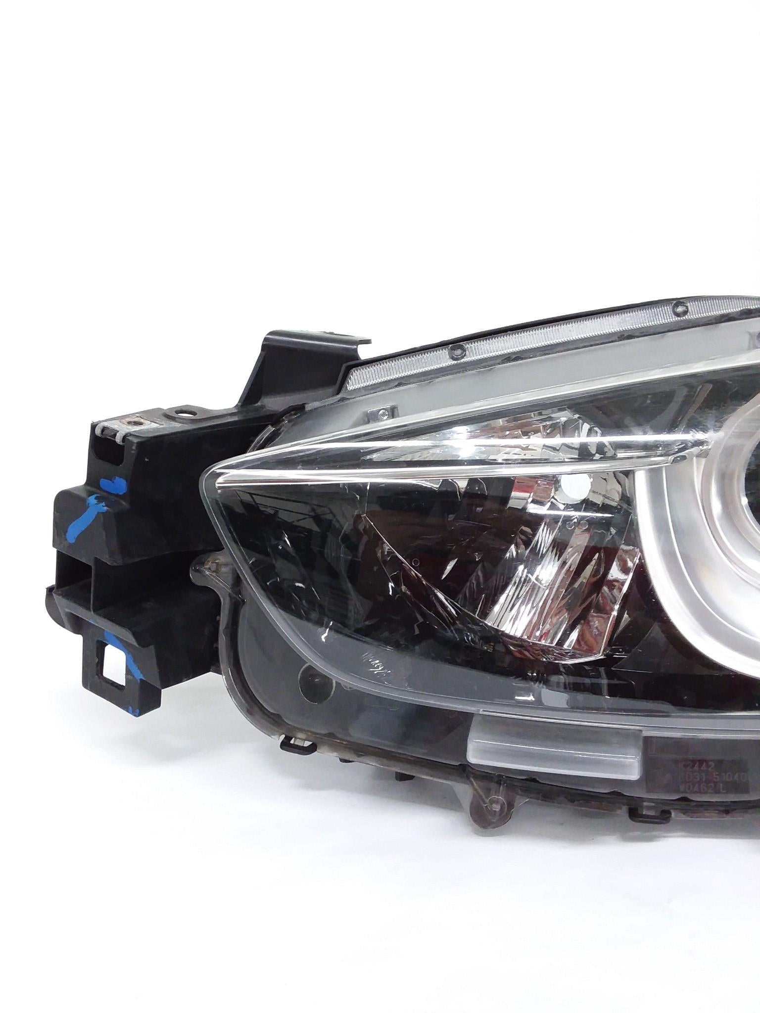 MAZDA 3 LEFT DRIVER LH SIDE HEADLIGHT HALOGEN 2014 2015 KJ0151040 OEM - CR Auto Parts