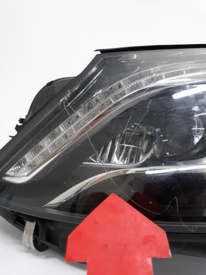 OEM Mercedes W222 S-Class S550 Left Driver Side LED  W/0 Night V Headlight 14-17 - Click Receive Auto Parts