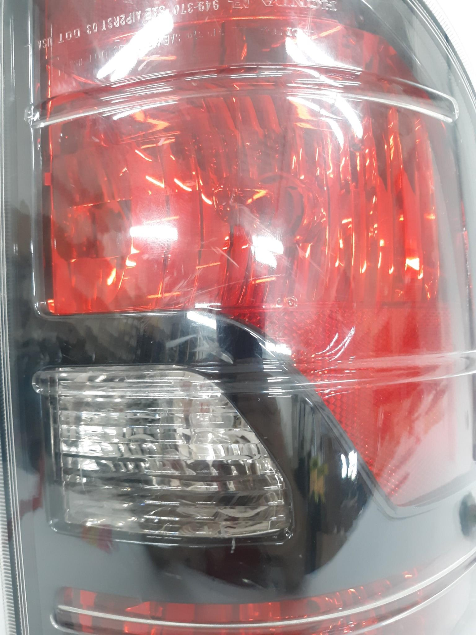 09-14 Honda RIDGELINE Driver Left Tail Light With Black Accent OEM - Click Receive Auto Parts