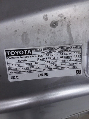 2013 2014 2015 2016 2017 2018 Toyota Avalon Hood Bonnet OEM SILVER 5330107061 - Click Receive Auto Parts