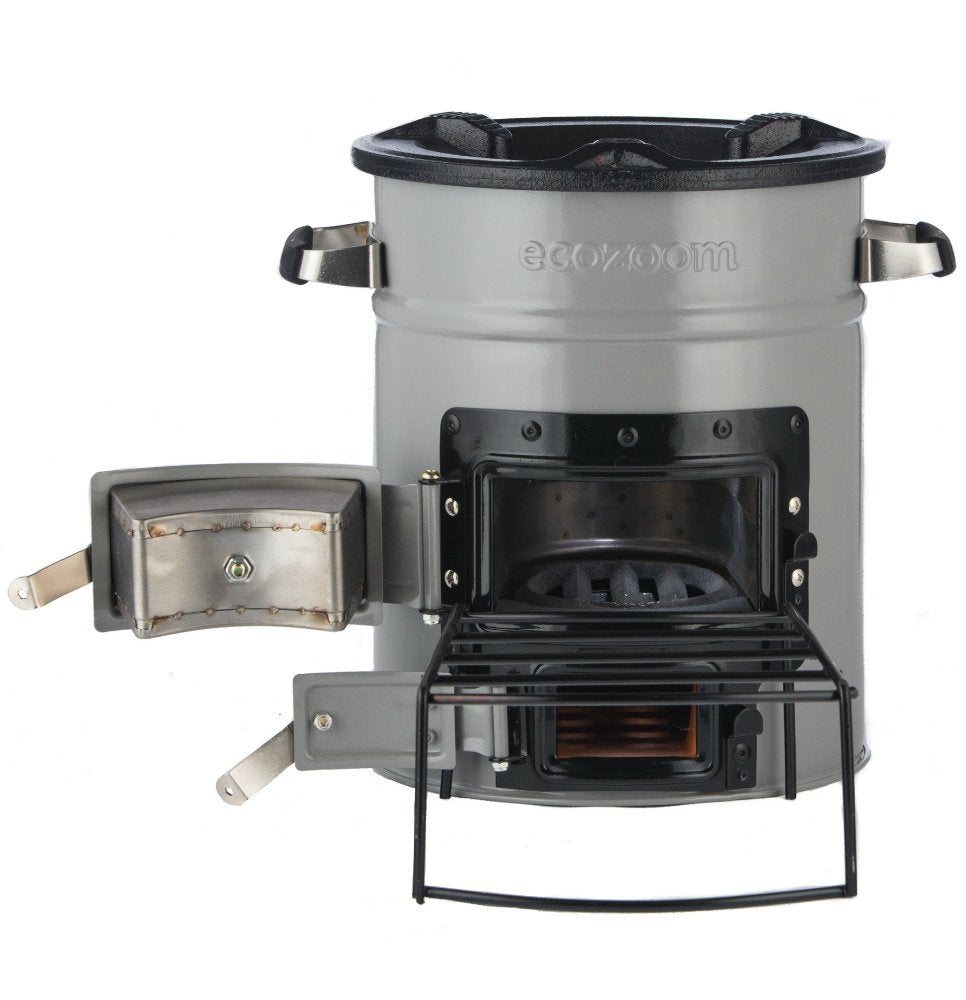 A. EcoZoom Versa Rocket Stove - Wood, Biomass or Charcoal Fuel
