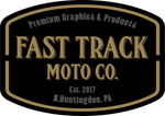 Fast Track Moto Co. logo. dirt bike gaphics, motocross graphics, decals, custom decals, dirt bike wash supplies