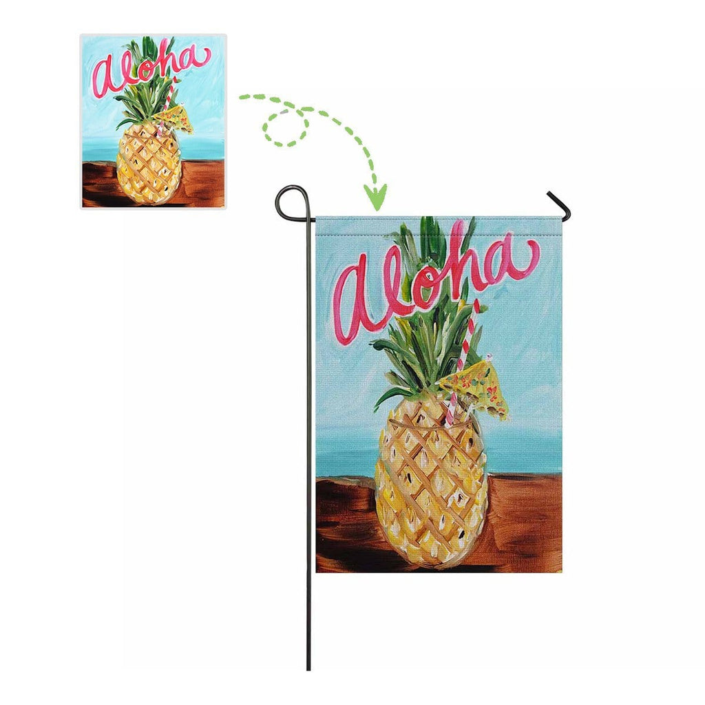 Custom Photo Pineapple Garden Flag