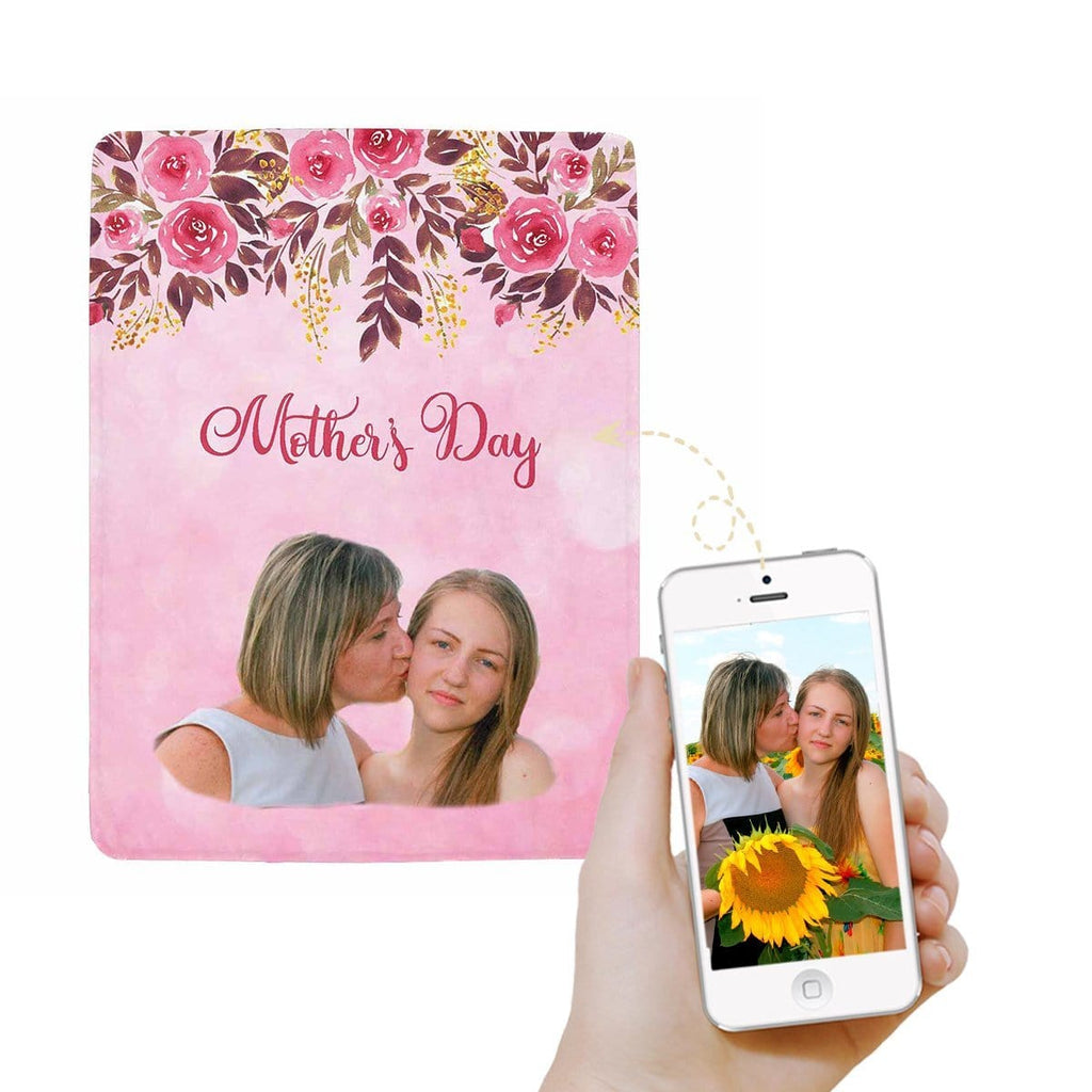 Custom Face Mother's Day Ultra-Soft Micro Fleece Blanket